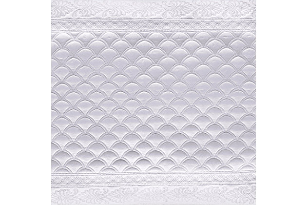 Quilted Full/Queen Coverlet, White, large
