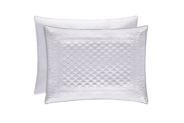 Quilted Standard Euro Sham, White, large