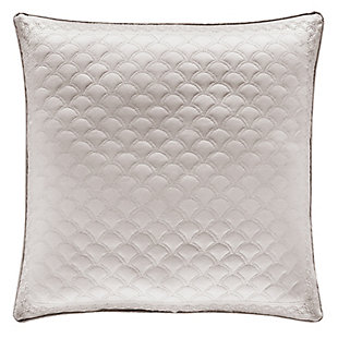 """Quilted 20"""" Square Throw Pillow, Silver, large"""