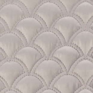 Quilted Square Euro Sham, Silver, large