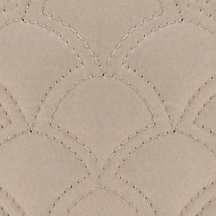 "Quilted 20"" Square Throw Pillow, Taupe, large"