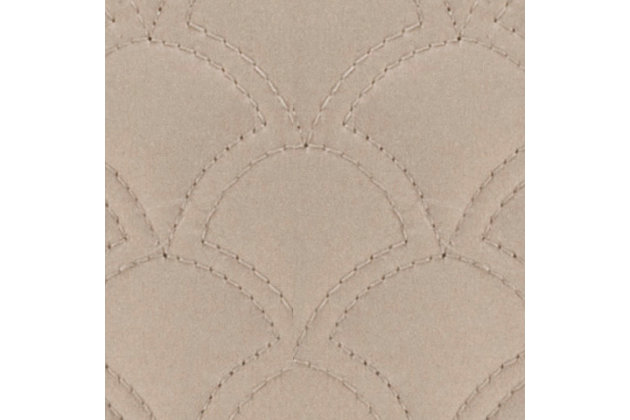 Quilted Square Euro Sham, Taupe, large