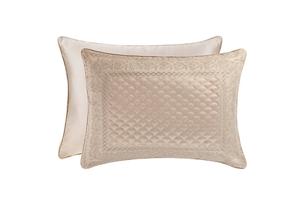Quilted King Euro Sham, Taupe, large