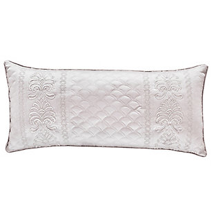 Quilted Boudoir Throw Pillow, Pearl, large