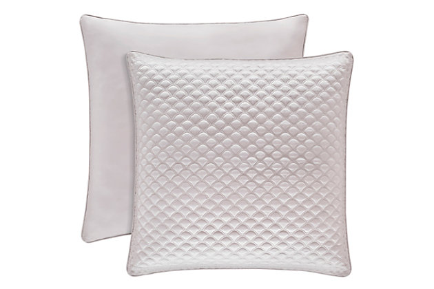 Quilted Square Euro Sham, Pearl, large