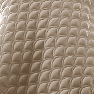 Quilted Full/Queen Coverlet, Pearl, large