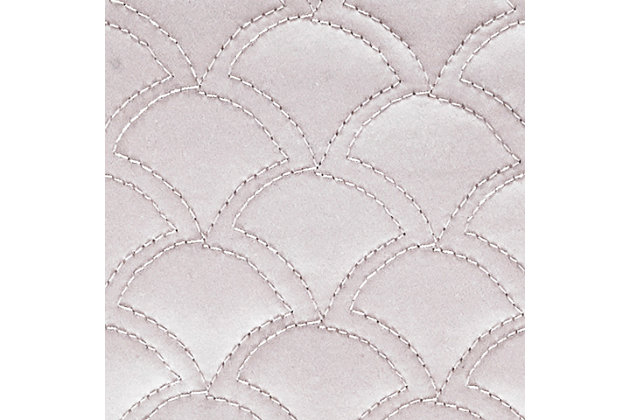 Quilted King Euro Sham, Pearl, large