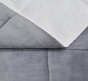 Velvet 3-Piece Full/Queen Comforter Set, Maroon, large