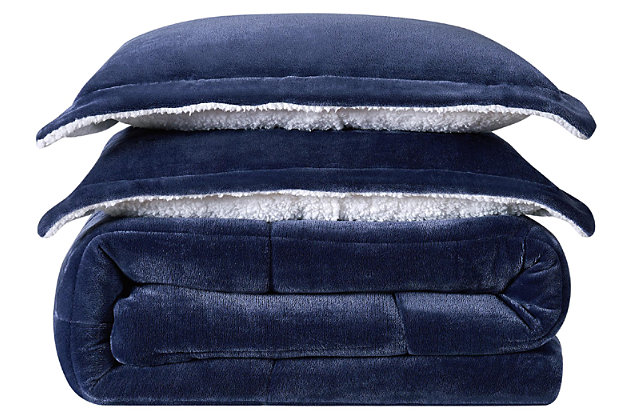 Velvet 3-Piece Full/Queen Comforter Set, , large