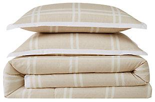 Plaid 2-Piece Twin XL Comforter Set, , large