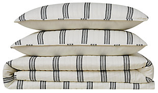 Striped 2-Piece Twin XL Quilt Set, , large