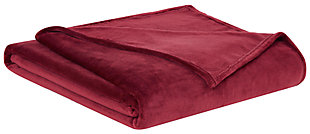 Velvet Twin XL Blanket, Cabernet, large