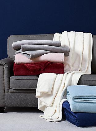 Velvet Twin XL Blanket, Gray, large