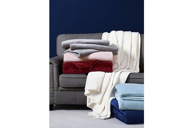 Velvet Twin XL Blanket, Ivory, large
