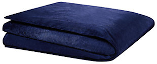 Reversible Weighted Blanket, Navy, large
