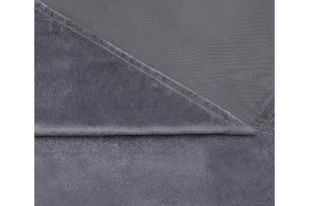Reversible Weighted Blanket, Gray, large