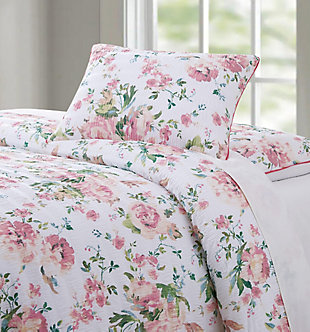 Floral 3-Piece Full/Queen Comforter Set, White, large