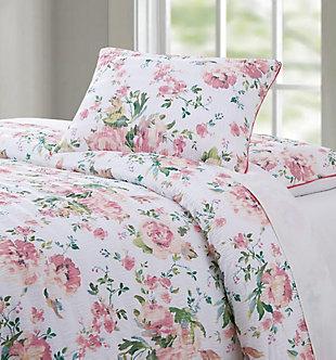 Floral 3-Piece Full/Queen Duvet Set, White, large