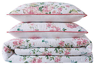 Floral 3-Piece King Duvet Cover Set, , large