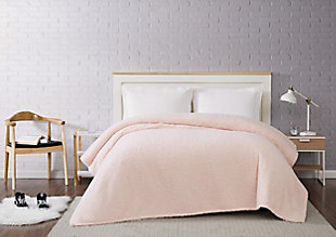 Microfiber Twin XL Blanket, Blush, rollover