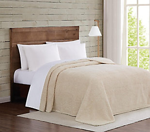 Microfiber Twin XL Blanket, Ivory, large