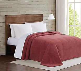 Microfiber Full/Queen Blanket, Dusty Rose, large