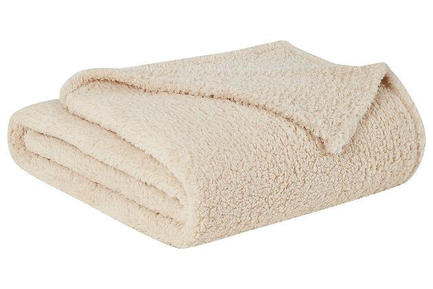 Microfiber Full/Queen Blanket, Ivory, large