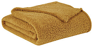 Microfiber Full/Queen Blanket, Mustard, large