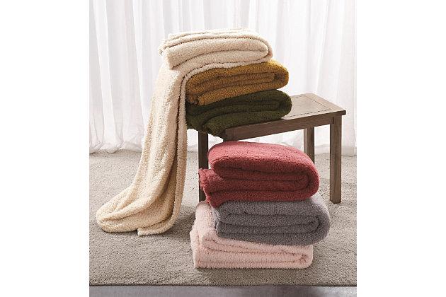 Microfiber Full/Queen Blanket, Olive Green, large