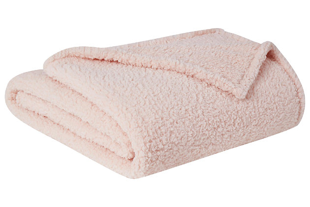 Microfiber King Blanket, Blush, large