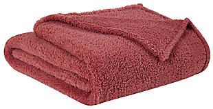 Microfiber King Blanket, Dusty Rose, large