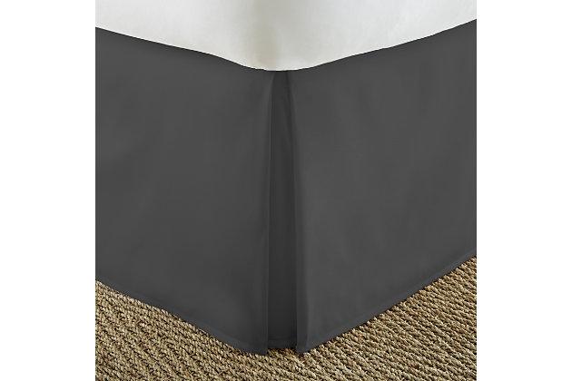 Pleated Dust Ruffle, Black, large