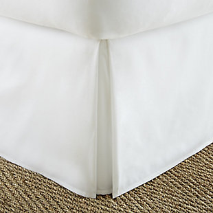 Pleated Dust Ruffle, White, large