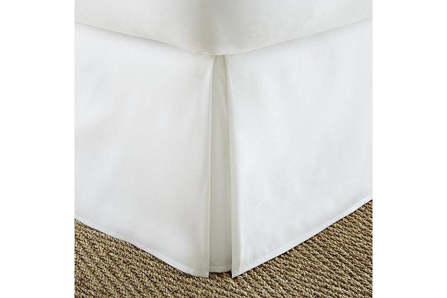 Pleated Dust Ruffle, White, large