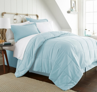 Microfiber California King 8-Piece Bed in a Bag, Aqua, large
