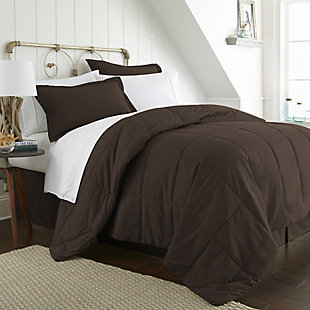 Microfiber California King 8-Piece Bed in a Bag, Chocolate, large