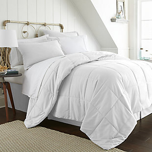 Microfiber Queen 8-Piece Bed in a Bag, White, large