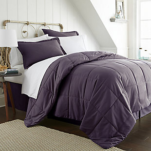 Microfiber Twin 8-Piece Bed in a Bag, Purple, rollover