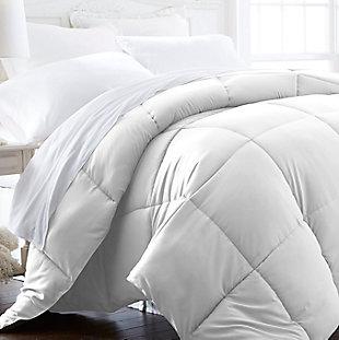 Microfiber Full/Queen Premium Down Alternative Comforter, White, large