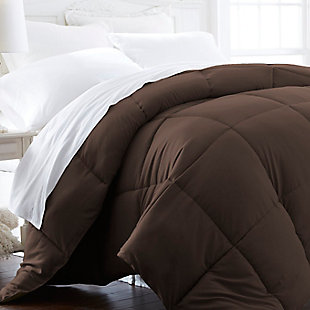 Microfiber Twin/Twin XL Premium Down Alternative Comforter, Chocolate, large