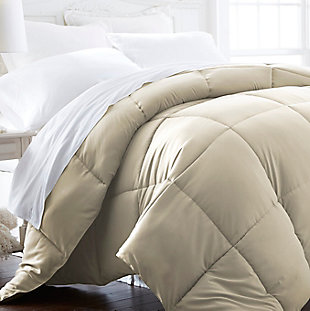 Microfiber Twin/Twin XL Premium Down Alternative Comforter, Ivory, rollover