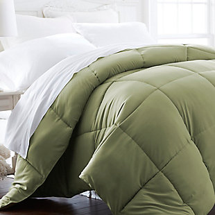 Microfiber Twin/Twin XL Premium Down Alternative Comforter, Sage, rollover