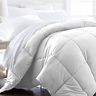 Microfiber Twin/Twin XL Premium Down Alternative Comforter, White, rollover