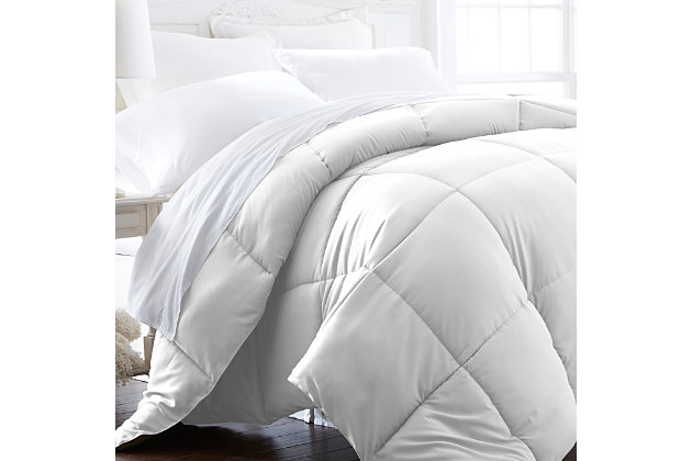 Microfiber Twin/Twin XL Premium Down Alternative Comforter, White, large