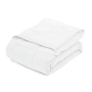 Microfiber Twin/Twin XL Premium Down Alternative Comforter, White, rollover