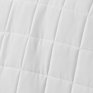 Square Patterned 3-Piece Twin/Twin XL Quilted Coverlet Set, White, large