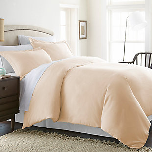 Three Piece Twin/Twin XL Duvet Cover Set, Ivory, large
