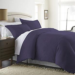 Three Piece Twin/Twin XL Duvet Cover Set, Purple, large