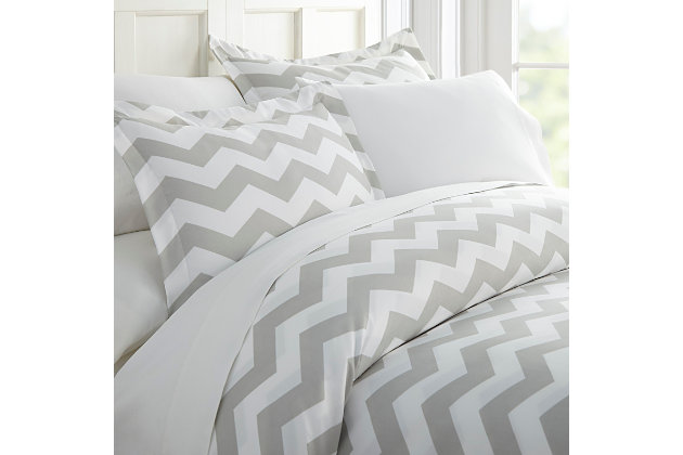 Arrow 3-Piece Twin/Twin XL Duvet Cover Set, Gray, large