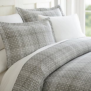 Polka Dot 3-Piece Twin/Twin XL Duvet Cover Set, Gray, large